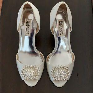 Badgley Mischka Peep Toe Wedding Shoe